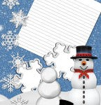 Free kids winter holiday recipe page and photo memory journal sets.