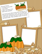 Free Children's Cookbook Recipes and matching scrapbook photo memory page downloads.